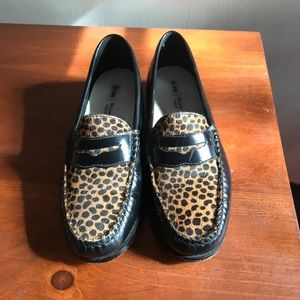Bass Weejuns for Redone Leopard Loafers